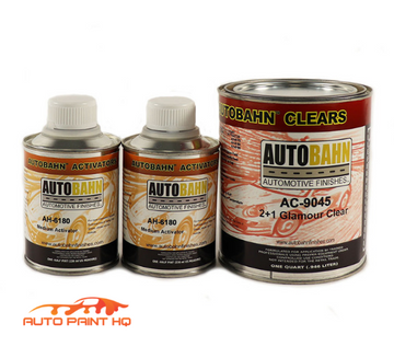 Super Wet PLUS Glamour Clear Coat Quart + Act 2:1 Mix Autobahn Car Vehicle Kit