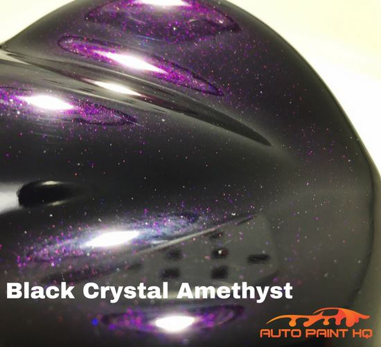 Black Crystal Amethyst Basecoat with Reducer Quart (Basecoat Only) Car Paint Kit