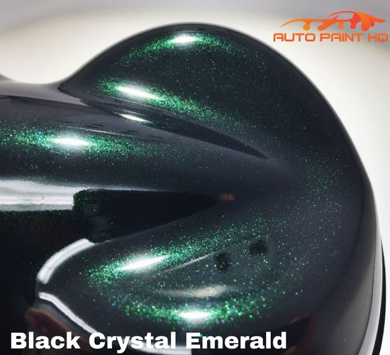 Black Crystal Emerald Basecoat with Reducer Quart (Basecoat Only) Auto Paint Kit