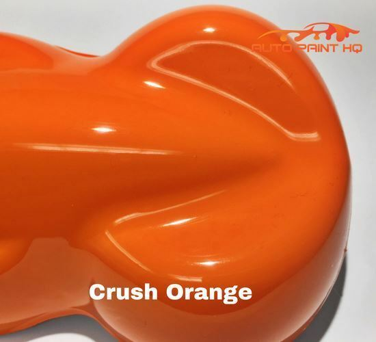 Crush Orange Basecoat + Reducer Quart (Basecoat Only) Motorcycle Auto Paint Kit