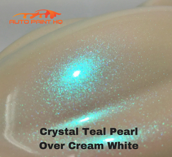 Tri-coat Teal Pearl Basecoat Gallon (Over Cream White Base)