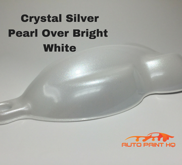 Tri-coat Silver Pearl Basecoat Quart (Over Bright White Base)