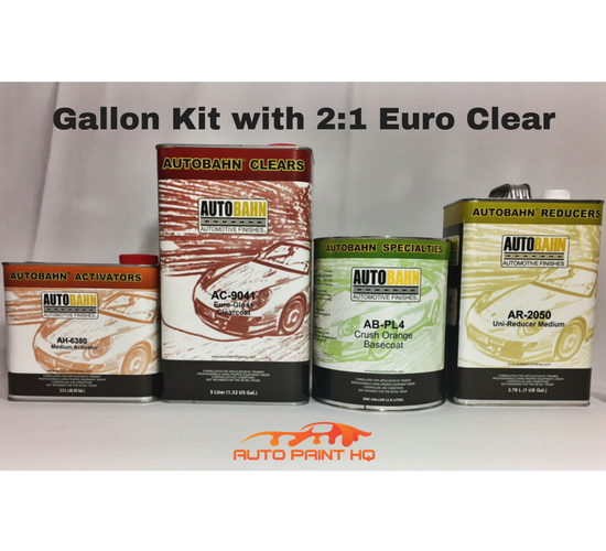 Crush Orange Basecoat Clearcoat Gallon Kit