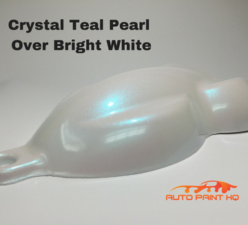 Tri-coat Teal Pearl Basecoat Quart (Over Bright White Base)