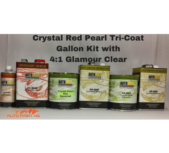 Tri-coat Red Pearl Basecoat Gallon (Over Cream White Base)