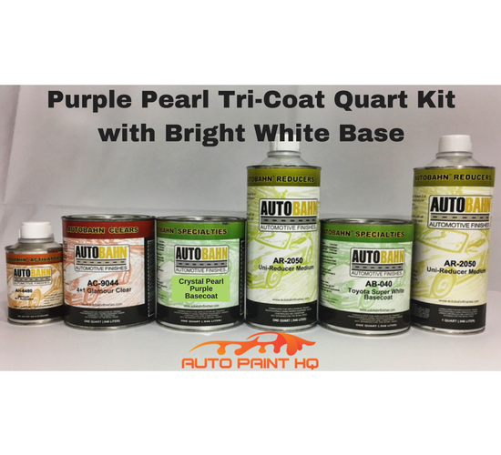 Tri-coat Purple Pearl Basecoat Quart (Over Bright White Base)
