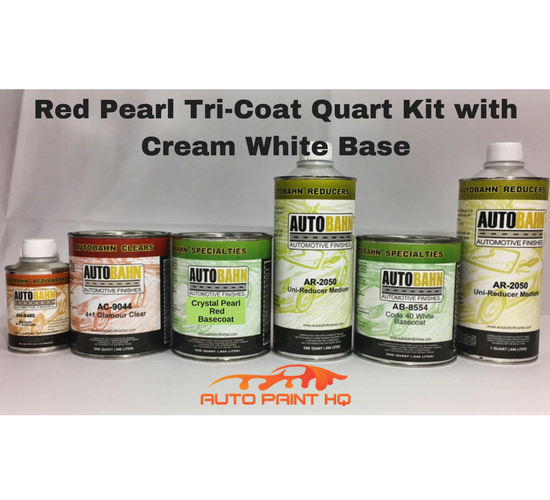 Tri-coat Red Pearl Basecoat Quart (Over Cream White Base)