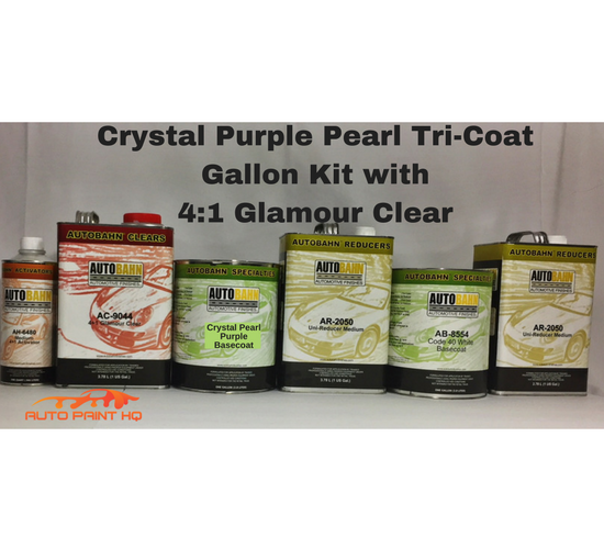 Tri-coat Purple Pearl Basecoat Gallon (Over Cream White Base)