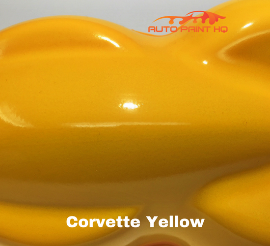 Corvette Yellow Basecoat Clearcoat Quart Kit