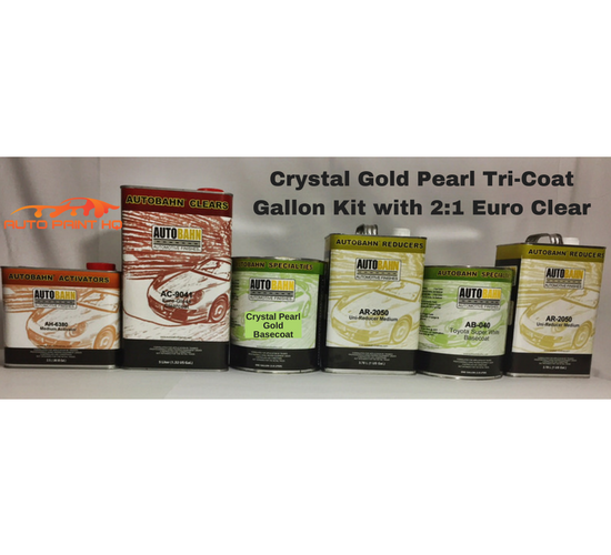 Tri-coat Gold Pearl Basecoat Gallon (Over Bright White Base)