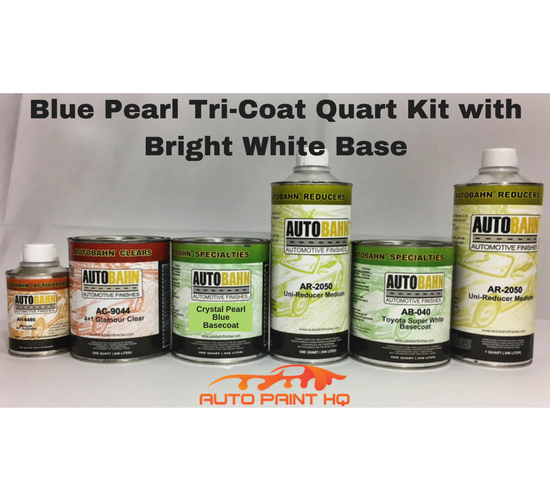 Tri-coat Blue Pearl Basecoat Quart (Over Bright White Base)