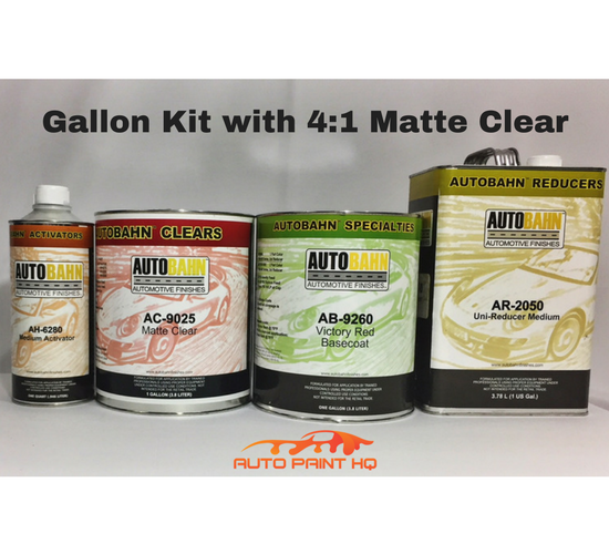 Satin Victory Red Basecoat Clear Gallon Kit