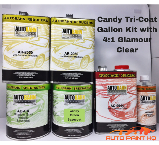 Candy Green Basecoat Gallon Kit (Over Gray Base)