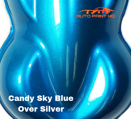 Candy Sky Blue Basecoat Quart Kit (Over Silver Base)