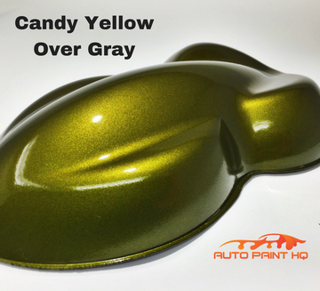 Candy Yellow Basecoat Quart Kit (Over Gray Base)
