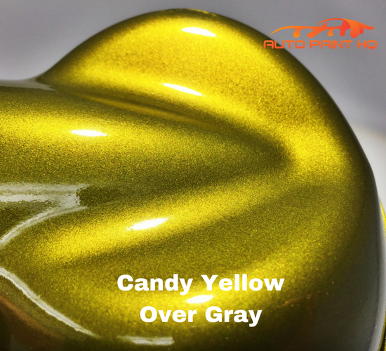 Candy Yellow Basecoat Gallon Kit (Over Gray Base)