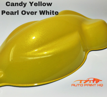 Candy Yellow Pearl Basecoat Gallon Kit (Over White Base)