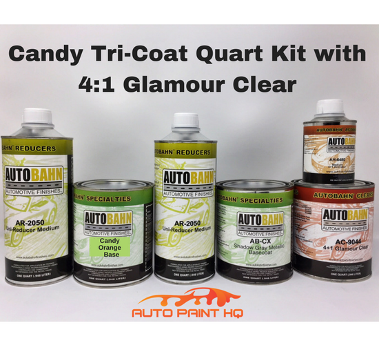 Candy Orange Basecoat Quart Kit (Over Gray Base)