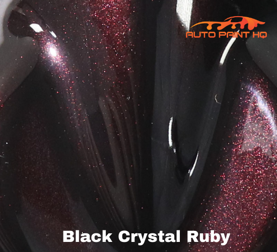 Black Crystal Ruby Basecoat with Reducer Quart (Basecoat Only) Auto Paint Kit
