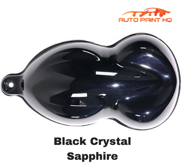 Black Crystal Sapphire Basecoat with Reducer Quart (Basecoat Only) Paint Kit