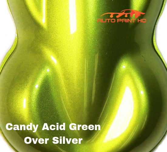Candy Acid Green Basecoat Quart Kit (Over Silver Base)