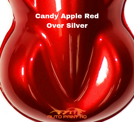 Candy Apple Red Basecoat Gallon Kit (Over Silver Base)