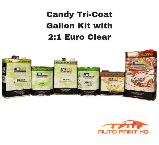 Candy Fire Orange Basecoat Gallon Kit (Over Silver Base)