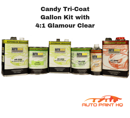 Candy Teal Basecoat Tri-Coat Gallon Kit (Over Silver Base)