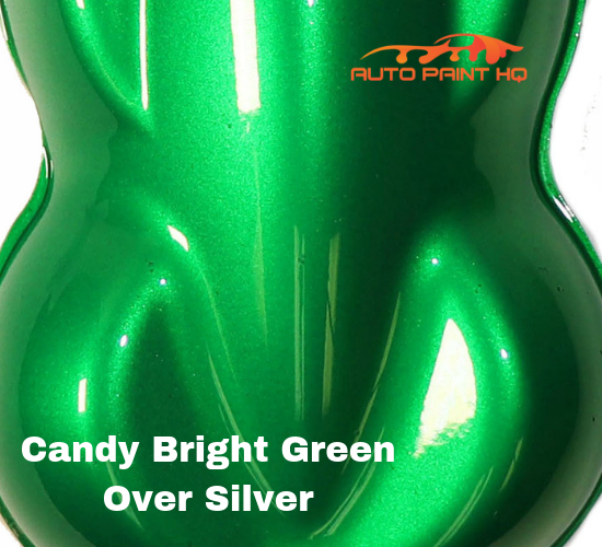 Candy Bright Green Basecoat Gallon Kit (Over Silver Base)