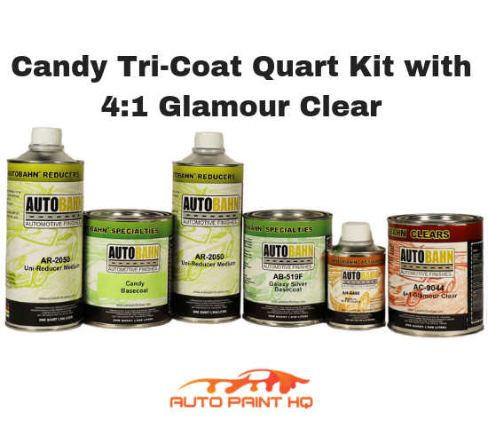 Candy Orange Basecoat Quart Kit (Over Silver Base)