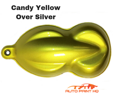 Candy Yellow Basecoat Quart Kit (Over Silver Base)