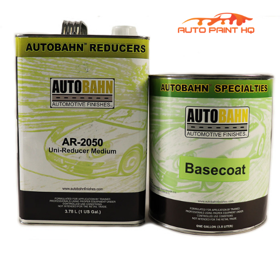 Cream White Basecoat with Reducer Gallon (Basecoat Only) Car Auto Paint Kit