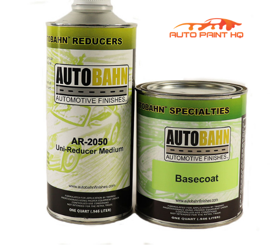 Gunmetal Gray Basecoat + Reducer Quart (Basecoat Only) Motorcycle Auto Paint