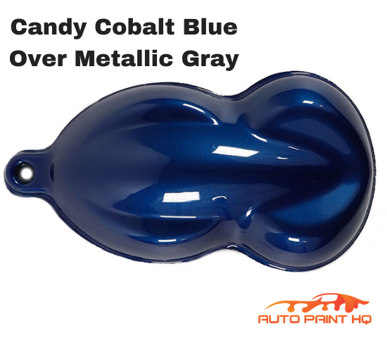 Candy Cobalt Blue Basecoat Quart Kit (Over Metallic Gray Base)