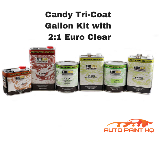 Candy Green Basecoat Gallon Kit (Over Metallic Gray Base)