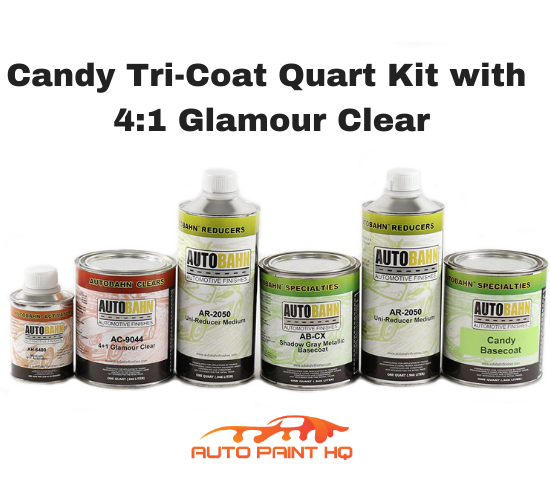 Candy Brandywine Basecoat Quart Kit (Over Metallic Gray Base)