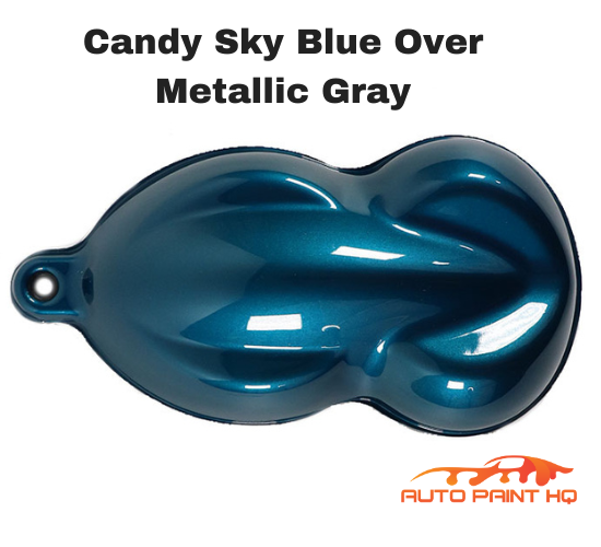 Candy Sky Blue Basecoat Quart Kit (Over Metallic Gray Base)
