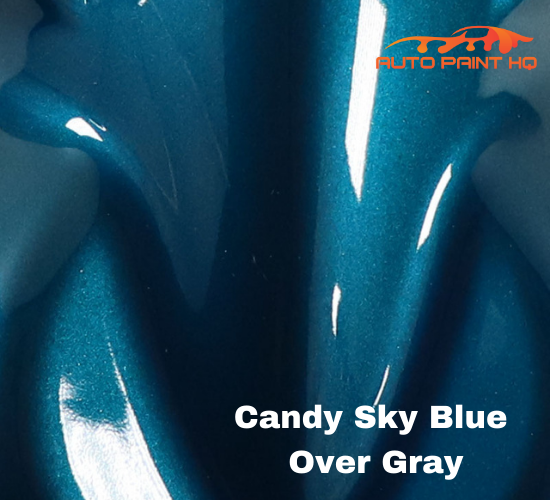 Candy Sky Blue Basecoat Gallon Kit (Over Metallic Gray Base)