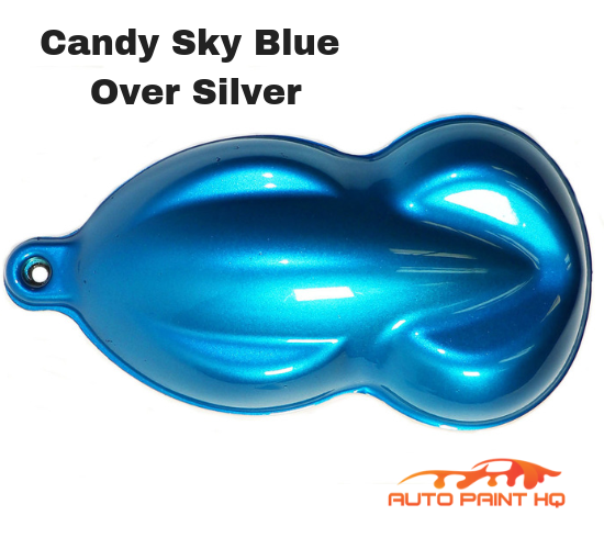 Candy Sky Blue Gallon with Reducer (Candy Midcoat Only) Car Auto Paint Kit