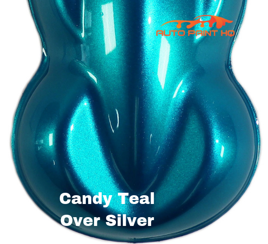 Candy Teal Quart with Reducer (Candy Midcoat Only) Car Auto Motorcycle Kit
