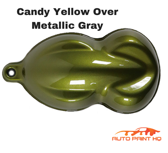 Candy Yellow Basecoat Quart Kit (Over Metallic Gray Base)