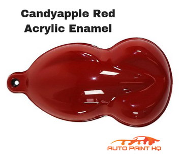 High Gloss Candy Apple Red Gallon Single Stage Acrylic Enamel Car Auto Paint Kit