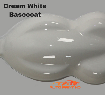 Cream White Basecoat + Reducer Quart (Basecoat Only) Motorcycle Auto Paint Kit