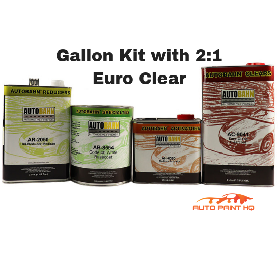 Cream White Basecoat Clearcoat Gallon Car Vehicle Automotive Auto Paint Kit