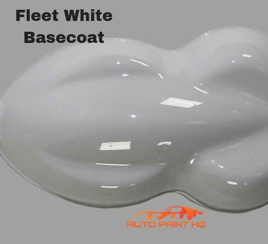 Fleet White Basecoat with Reducer Gallon (Basecoat Only) Car Auto Paint Kit