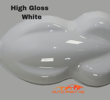 High Gloss Bright White Gallon Single Stage Acrylic Enamel Car Auto Paint Kit