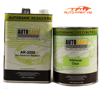 Intercoat Clear Gallon + Gallon Reducer 1:1 Mix Autobahn Car Vehicle Auto Kit