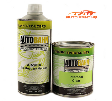 Intercoat Clear Quart + Quart Reducer 1:1 Mix Autobahn Car Vehicle Auto Kit