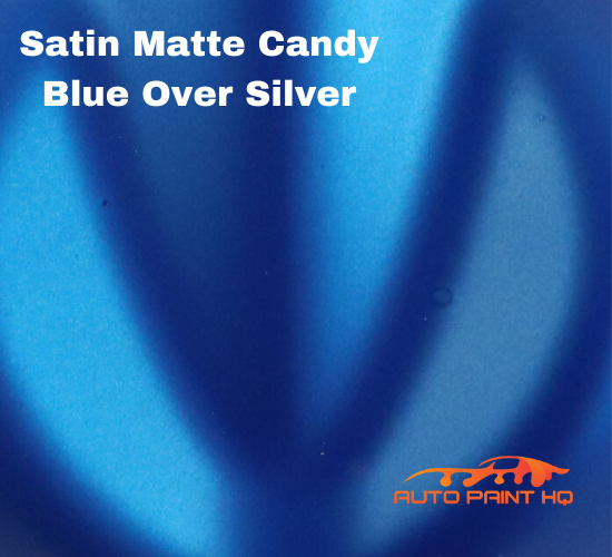Satin Flat Candy Blue Over Silver Basecoat Tri-Coat Gallon Car Auto Paint Kit
