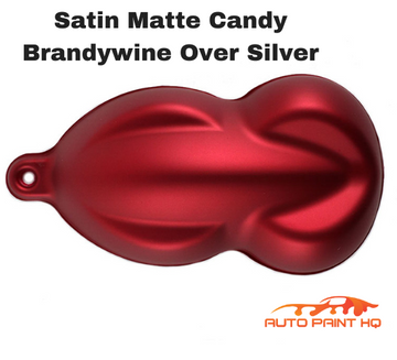 Satin Flat Candy Brandywine Over Silver Basecoat Tri-coat Quart Auto Paint Kit